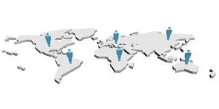 Leute in der Welt Lizenzfreies Stockfoto