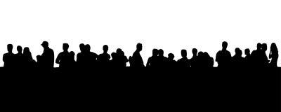 Leute in der Zeile (ENV-Format vorhanden) Stockfotografie