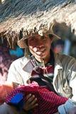 Leute des Stammes PA-O, Myanmar lizenzfreie stockfotografie