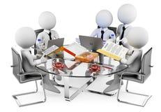 Leute des Weiß 3d Informelle Sitzung des Geschäfts Stockbild
