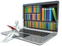 Leute des Weiß 3d Neue Technologien Digital-Bibliothek Stockfotos