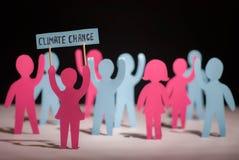 Leute, die über Klimawandel sprechen lizenzfreies stockfoto