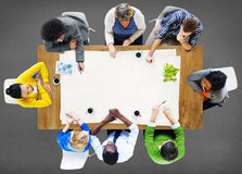 Leute, die Arbeits-Arbeitsplatz Team Concept treffen Lizenzfreies Stockbild