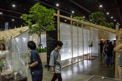 Leute, die in Architektenausstellung ` 17 gehen Lizenzfreie Stockfotos