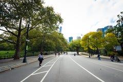 Leute, die Central Park genießen Lizenzfreies Stockbild