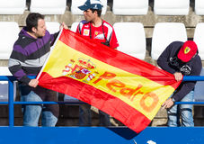 Leute, die das Training der Formel 1, 2013 sehen lizenzfreies stockfoto