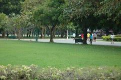 Leute, die im Park sich entspannen Lizenzfreies Stockbild