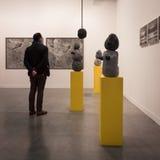 Leute, die Miart 2014 in Mailand, Italien besuchen Stockfotografie