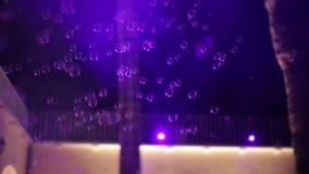 Leute, die in Seifenblasen tanzen stock video footage
