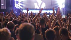 Leute, die Spaß während des Konzerts genießen und haben stock video