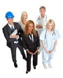 Leute, die verschiedene Karriereoptionen darstellen Lizenzfreie Stockfotos