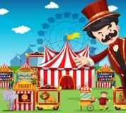 Leute, die am Zirkus arbeiten Stockfoto