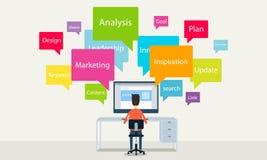 Leute, die zu Geschäft on-line--concepte arbeiten Lizenzfreie Stockbilder