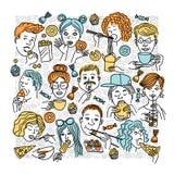 Leute eat_5 stockbild