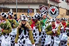 Leute an einem Karneval in Köln Lizenzfreie Stockfotografie