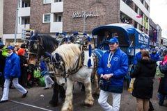 Leute an einem Karneval in Köln Stockfoto