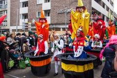 Leute an einem Karneval in Köln Lizenzfreies Stockfoto