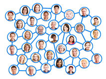 Leute in einem Sozialnetz Lizenzfreies Stockfoto
