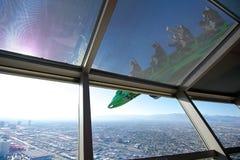 Leute an einer Adrenaline-Fahrt, Stratosphäre lizenzfreies stockbild
