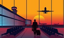 Leute am Flughafen lizenzfreie abbildung