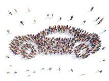 Leute in Form eines Autos vektor abbildung