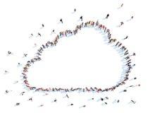 Leute in Form von Wolken Lizenzfreie Stockfotografie