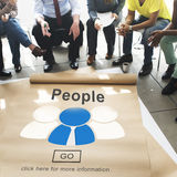 Leute-Gemeinschaftsverbindungs-Kommunikations-Gesellschafts-Konzept lizenzfreie stockfotografie