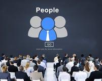 Leute-Gemeinschaftsverbindungs-Kommunikations-Gesellschafts-Konzept stockfotos
