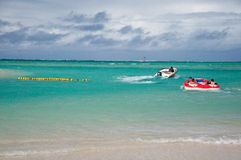 Leute genießen den Feiertag auf Mauritius Lizenzfreies Stockbild