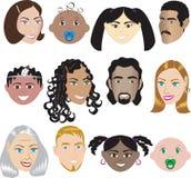 Leute-Gesichter 3 Lizenzfreie Stockfotografie