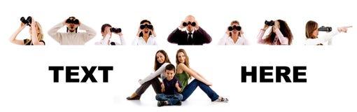 Leute - Gruppe des Suchens der Leute Stockbilder
