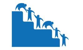 Leute helfen Logo - Team Work Logo - rundeten Team Work Union People Logo-Schablonen-Kreisgeschäft Team United Logo stock abbildung