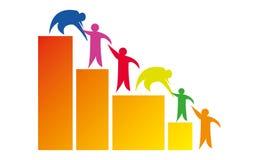 Leute helfen Logo - Team Work Logo - rundeten Team Work Union People Logo-Schablonen-Kreisgesch?ft Team United Logo lizenzfreie abbildung