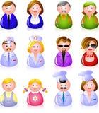 Leute-Ikonen Lizenzfreies Stockbild