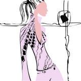 Leute, Illustration, Tapete, Mode, neue Ideen, Linien, Frau Lizenzfreie Stockbilder