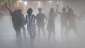 Leute im Dampf Stockfotografie