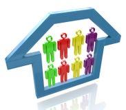 Leute im Haus vektor abbildung