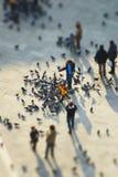 Leute im Marktplatz San Marco Stockfoto