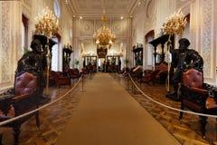 Leute im nationalen Palast von Sintra, Portugal Lizenzfreies Stockfoto