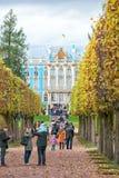 Leute im Park pushkin St Petersburg Lizenzfreies Stockbild