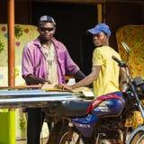 Leute im PORTO-NOVO, BENIN Lizenzfreies Stockbild