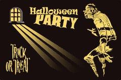 Leute im Retrostil Geist Halloween Stockbild