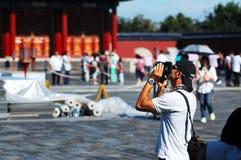 Leute im Tempel des Himmelsfotos Stockbild
