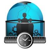 Leute innerhalb einer Zeit-Maschine Lizenzfreie Stockbilder