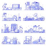 Leute-Interessen, Hobbys und Beruf-Ikonen stock abbildung