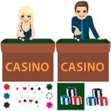Leute-Kasino-Satz Lizenzfreies Stockfoto