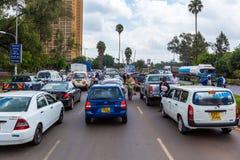 Leute in Kenia, die schwarzen Menschen, die Leben von Leuten in Afrika Stockfoto