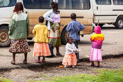 Leute in Kenia, die schwarzen Menschen, die Leben von Leuten in Afrika Stockfotos