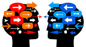 Leute-Kommunikation stock abbildung