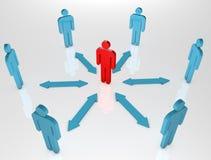Leute-Kommunikation und ein Rot Lizenzfreies Stockfoto